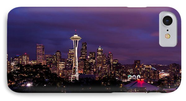 Seattle iPhone 7 Case - Seattle Night by Chad Dutson