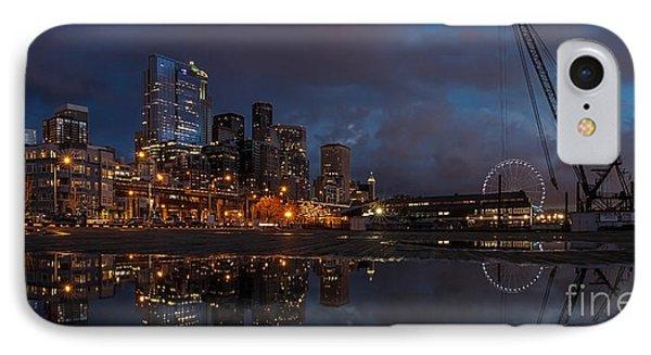 Seattle Night Skyline IPhone Case by Mike Reid