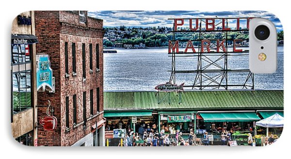 Seattle Public Market II IPhone Case