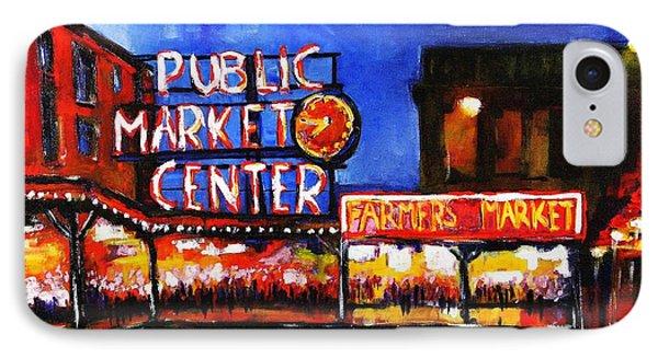 Seattle Public Market IPhone Case by Marti Green