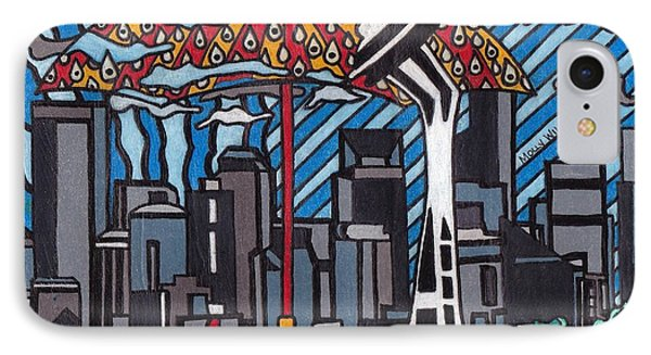 Seattle Rain IPhone Case by Molly Williams