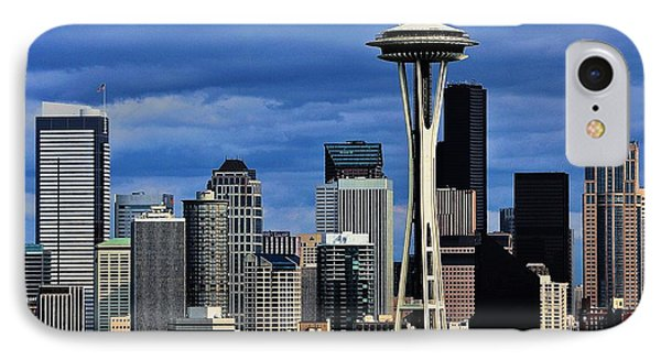 Seattle Skyline IPhone Case by Benjamin Yeager