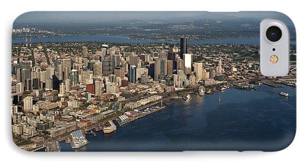 Seattle Skyline, Elliott Bay & Ferry IPhone Case by Jim Corwin