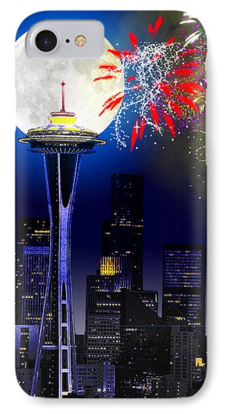 Seattle Skyline Phone Case by Methune Hively