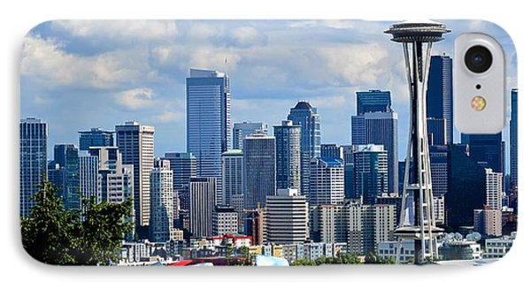 Seattle Skyline Panorama IPhone Case by Ricardo J Ruiz de Porras