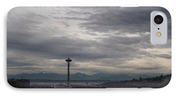 Seattle Skyline IPhone Case by Suzanne Lorenz