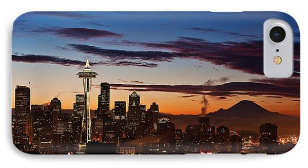 Seattle Sunrise IPhone Case by Mike Reid