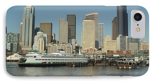 Seattle Waterfront IPhone Case by John Bushnell
