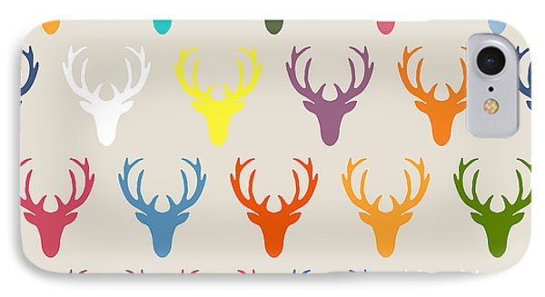 Seaview Simple Deer Heads IPhone 7 Case by Sharon Turner