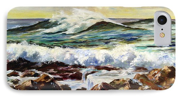 IPhone Case featuring the painting Seawall by Lee Piper