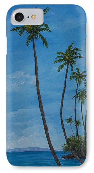IPhone Case featuring the painting Seawall Palms by Darice Machel McGuire