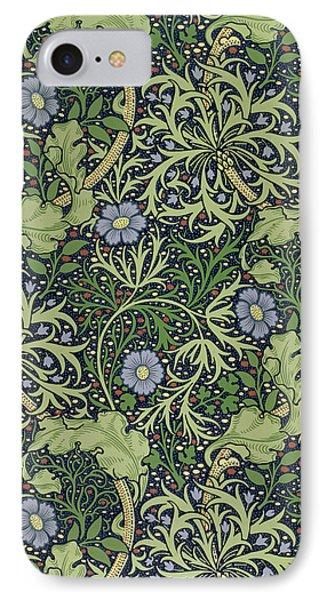 Seaweed Wallpaper Design IPhone Case by William Morris