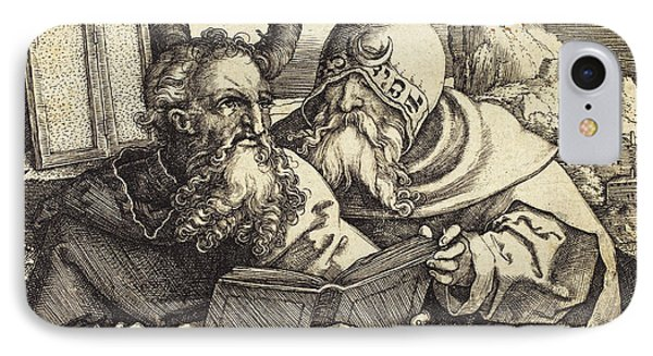 Sebald Beham German, 1500 - 1550, Moses And Aaron IPhone Case by Quint Lox