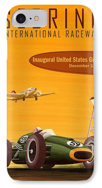 Sebring Usa Grand Prix 1959 IPhone Case by Georgia Fowler