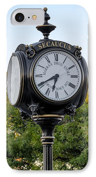 Secaucus Clock Marras Drugs IPhone Case by Susan Candelario