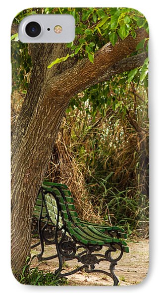Secluded Park Benches Phone Case by Jess Kraft