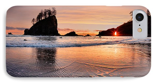 Second Beach Sunset IPhone Case by Leland D Howard