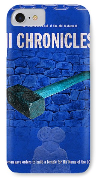 Second Chronicles Books Of The Bible Series Old Testament Minimal Poster Art Number 14 Phone Case by Design Turnpike