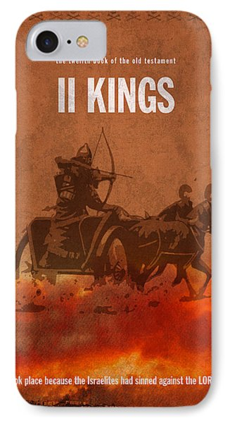 Second Kings Books Of The Bible Series Old Testament Minimal Poster Art Number 12 IPhone Case by Design Turnpike