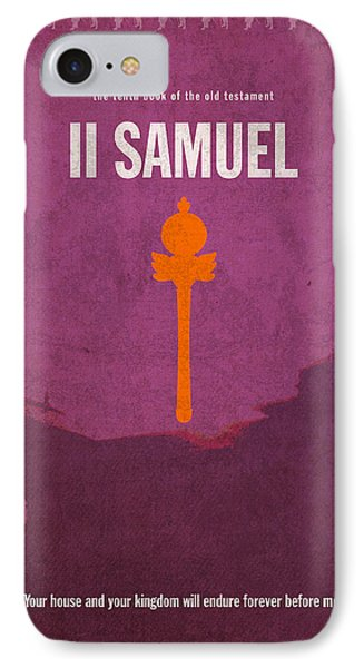 Second Samuel Books Of The Bible Series Old Testament Minimal Poster Art Number 10 IPhone Case