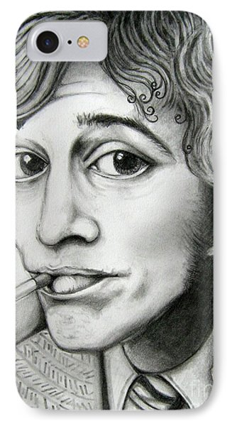 IPhone Case featuring the drawing Robin Gibb by Patrice Torrillo