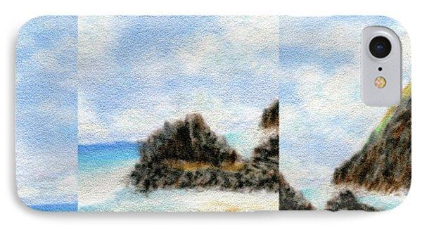 Secret Beach Sky Details Phone Case by Kenneth Grzesik