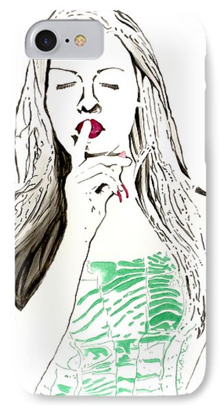 IPhone Case featuring the painting Secret by Denise Deiloh