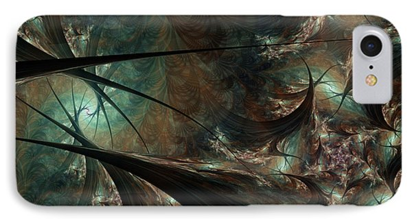 IPhone Case featuring the digital art Secret Forest by Kim Redd