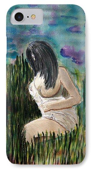 Secret Lady. IPhone Case by Shlomo Zangilevitch