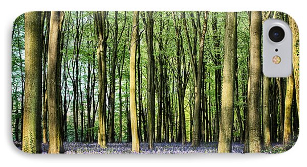 Secret Pond In Bluebell Woods IPhone Case