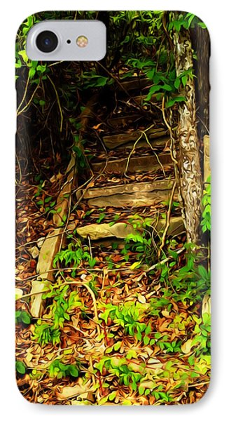 IPhone Case featuring the photograph Secret Stairway by Bartz Johnson