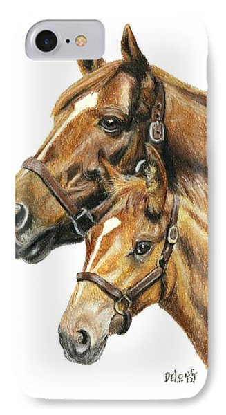 Secretariat And Grandson Innception Vt IPhone Case