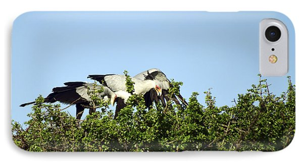 IPhone Case featuring the photograph Secretaries Like Their Nest by AnneKarin Glass