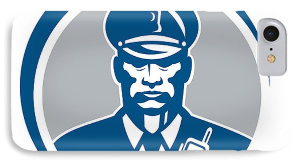 Security Guard Police Officer Radio Circle Phone Case by Aloysius Patrimonio