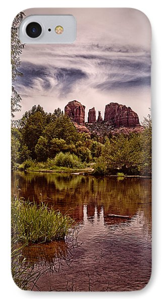 IPhone Case featuring the photograph Sedona Arizona - Mountain's Majesty ... by Chuck Caramella