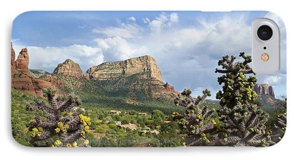 IPhone Case featuring the photograph Sedona Cactus In Bloom by Maria Janicki