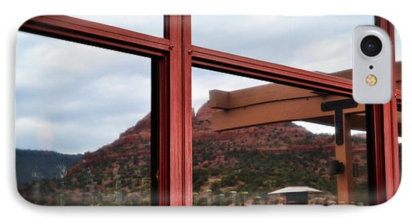 Sedona Cafe View IPhone Case by Beverly Guilliams