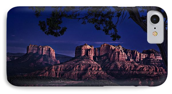 Sedona Cathedral Rock Post Sunset Glow IPhone Case by Mary Jo Allen