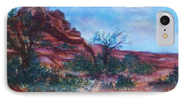 Sedona Red Rocks - Impression Of Bell Rock IPhone Case by Ellen Levinson