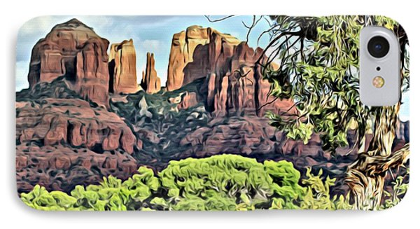 Sedona Scene IPhone Case by Lori Mellen-Pagliaro