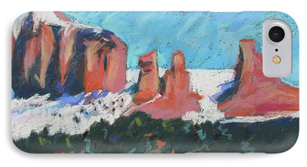 Sedona Snowfall IPhone Case by Linda Novick