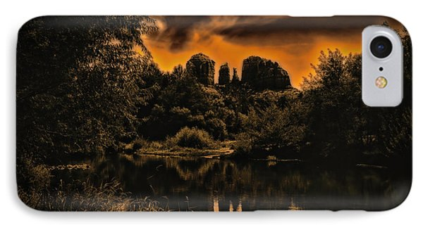 IPhone Case featuring the photograph Sedona Sundown ... by Chuck Caramella