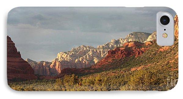Desert iPhone 7 Case - Sedona Sunshine Panorama by Carol Groenen