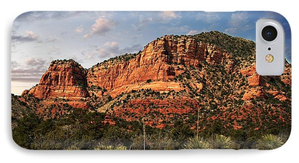 IPhone Case featuring the photograph Sedona Vortex  And Yucca by Barbara Chichester