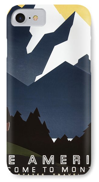 See America - Montana Mountains Phone Case by Georgia Fowler