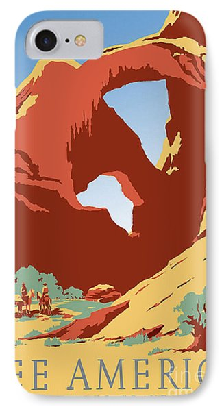See America Vintage Travel Poster IPhone Case by Jon Neidert