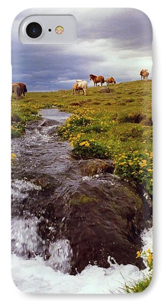 IPhone Case featuring the photograph See The Pretty Horses by Debra Kaye McKrill