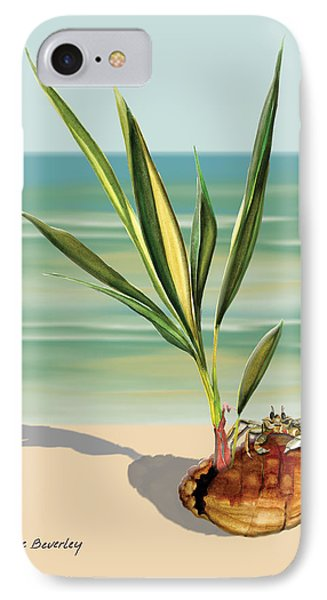 Seedling Floating Ashore IPhone Case by Anne Beverley-Stamps