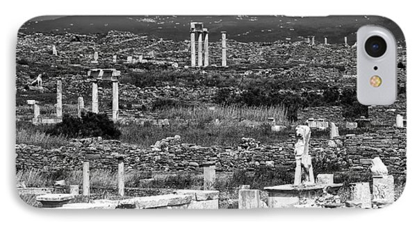 Seeing Ruins On Delos Island IPhone Case by John Rizzuto