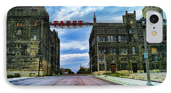 Seen Better Days Old Pabst Brewery Home Of Blue Ribbon Beer Since 1860 Now Derelict Phone Case by Lawrence Christopher